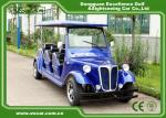 Energy Saving Classic Golf Carts With 3 Row Blue Color Vintage Type