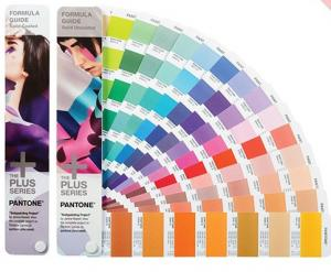 China Gravure Printing Pantone Color Swatches Formula Guide Coated / Uncoated on sale