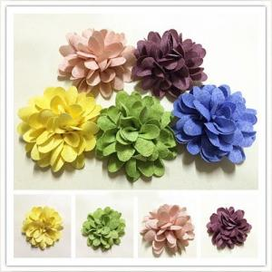 China Hair Clips Rustic Fabric Flower Decorations Headbands Use In Diy Wedding on sale
