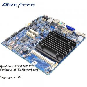 China DC 12V Mini ITX Motherboard Fanless Industrial Mainboard Quad Core J1900 CPU on sale