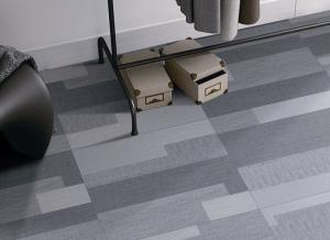 China Dark Grey Office Carpet Tiles Texture Scratch Proof Random Design 600x600mm on sale