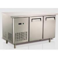 China Ventilation refroidissant le type des USA de réfrigération d'équipement de restaurant de réfrigérateur de banc d'acier inoxydable on sale