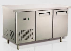 China Ventilation Cooling Stainless Steel Bench Fridge Restaurant Equipment Refrigeration US Type on sale