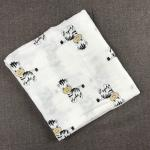Cute Prints Swaddle blanket 100% Cotton Flannel baby receiving blankets Soft Touch Blanket