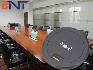 China hidden into desk mounted design for mobile phone wireless charger on sale