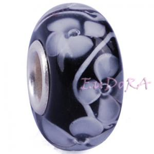China Murano Glass Beads Sterling Silver Core Beads, Lampwork Glass Charm Beads on sale