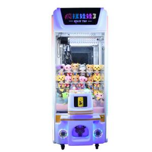 China Crazy Toy 3 Colorful Arcade Crane Machine , Crane Claw Teddy Bear Stuffing Machine on sale