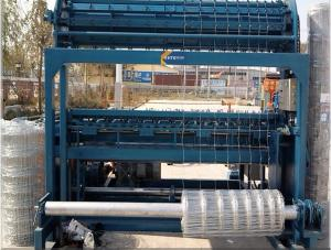 China 2000mm Width Full Automatic Grassland Fence Machine PLC Control For Cattle / Sheep on sale