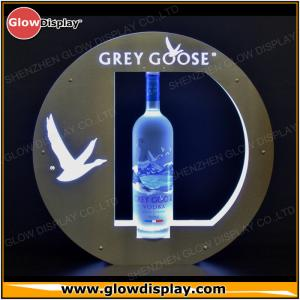 China LED Lighted Grey Goose Bottle Presenter VIP service Tray Glorifier Display on sale