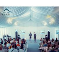 Huge Outdoor High Peak Pavilion Wedding Party Tent 25 X 30m Decorated With Curtains And Linings