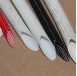 China Silicone Rubber Cable Sleeve Coated Fiberglass Insulating Tubefor Electrical on sale