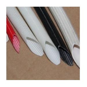 China Silicone Rubber Cable Sleeve coated fiberglass insulating Tube on sale