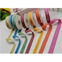China Customized Stitched Grosgrain Ribbon Dark Edges For DIY And Craft Projects on sale