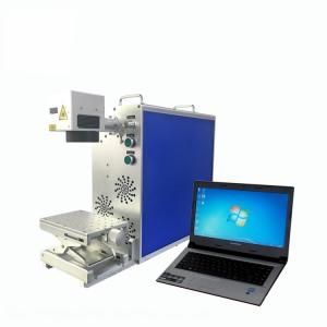 China 20W Portable Qr Code Engraving Machine Mini Laser Marking Machine With Air Cooling on sale
