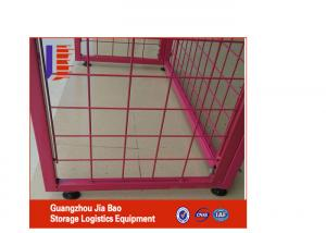 China Red Adjustable Store / Supermarket Display Racks Free Standing Wire Display Racks on sale