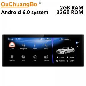 China Ouchuangbo 10.25 car radio gps 4 Core CPU for Lexus IS with USB WIFI reverse camera wifi BT android 6.0 system on sale