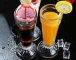 Tall 7.5cm Ice Cream Cup Glass Water Set Juice Lemon Mini Vase Transparent