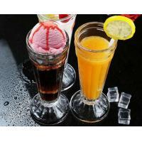 China Tall 7.5cm Ice Cream Cup Glass Water Set Juice Lemon Mini Vase Transparent on sale