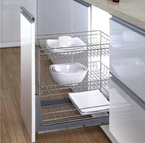 China Long Life Modern Kitchen Accessories Under Cabinet Drawer Line Sliding Shelves Basket on sale