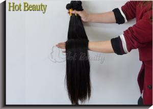 China Malaysian Straight Grade 7A Virgin Hair Bundles , Natural Color Non Remy Hair Weave on sale