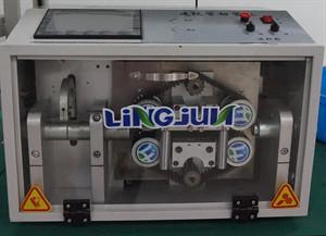 China DC-100 corrugated tube cutting machine on sale