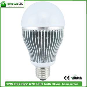 China A70 12W E27 LED bulb lights on sale