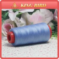 100% Spun 40S/2 Polyester Sewing Thread for Knitting Yarn Blue Color