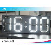 White And White Led Clock Digital Clocks With Large Display , Long Lifespan