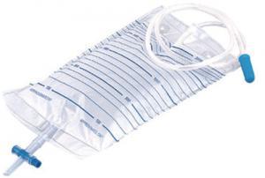 China OEM 1000ml hospital Pipe non toxic PVC urine drainage bag for single use on sale
