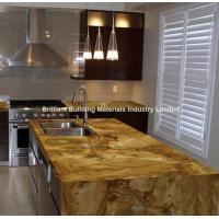 Luxury Palomino Quartzite Kitchen Countertop,  Brazil Yellow Quartzite Kitchen Countertop