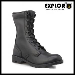 China men's combat boots with full leather upper military boots for mens black boots on sale