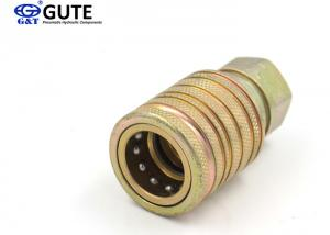 China Push And Pull Type Brass Quick Disconnect GT-CT Interchange With Parker 4250 Series on sale