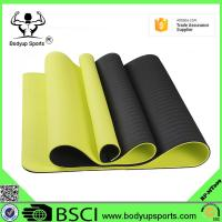 China Non-Slip Double Layer Soft Design Chemical Free No Smell Exercise Mat TPE Yoga Mat on sale