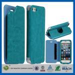 Caso impermeável de Smartphone da aleta azul do malote do couro do plutônio do titular do cartão da carteira com suporte