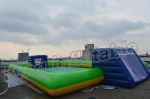 China Giant Soap Water Football Field Inflatable Soccer Field for Sale on sale
