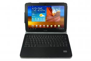 China Durable Leather 3.7V 700MAH Computer Samsung Galaxy Tab Cases with Bluetooth Keyboards on sale