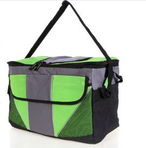 China Outdoor Insulated Lunch Bags For Adults , Green Cooler Bag Customized on sale