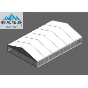 China 20x30m Snowproof  Flame Retardant White PVC Aluminium Alloy Tent With Clear/ Sandwich Wall For Celebration on sale