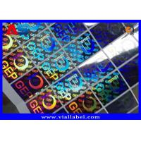 China Small Hologram Sticker For Cardboard Storage Boxes With Holographic Serial Number Anti Fake on sale