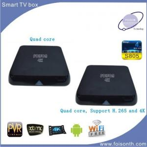China 2015 mini pc Support H.265 Quad core  Amlogic S805   google Android 4.4 tv box on sale
