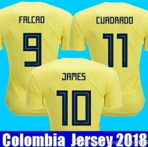 China Thailand quality National COLOMBIA 2018 World Cup soccer jersey JAMES RODRIGUEZ Jersey FALCAO CUADRADO Football on sale