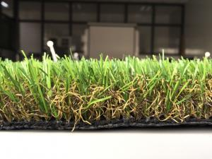 China Natural Eco - Friendly Garden Artificial Grass 35mm 180 Stitch / M on sale