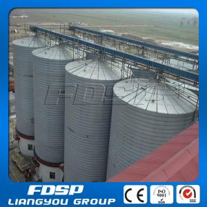 China Easy operation 4000T wood pellet and sawdust storage steel silo on sale