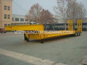 China 13.5M Low-bed Semi-trailer  3 PCS BPW axles 315/80R22.5 tyres  ABS  Optional on sale