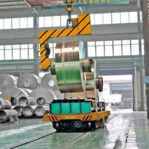 China Steel factory electric large coil transfer cart mounted on the rail on sale