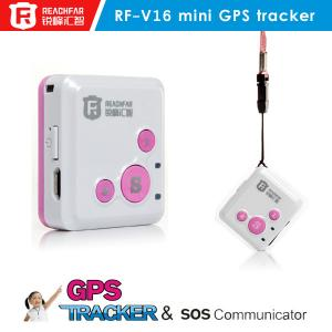 China Reachfar rf-v16 mini personal gps gsm tracker watch for kids elderly children on sale