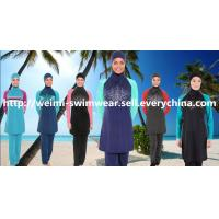 Stock long sleeve muslim swimsuit