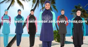 China Stock long sleeve muslim swimsuit on sale