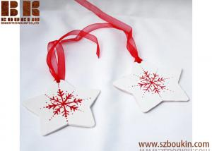 China Wooden Christmas Snowflake Tag Snowflake Ornament Gift Tags Holiday Ornaments on sale