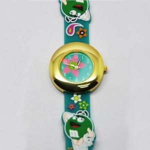 China 3D Cartoon Kids Waterproof Watch With Alloy Case And Silicone Band on sale